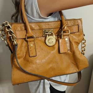 MK tote bag with chain straps and tote handles